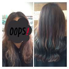 Subtle Blue Highlights Before And After Beautiful Subtle Mermaid Highlight Purple And