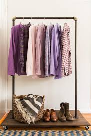 Homemade Metal Coat Rack Mesmerizing DIY Clothing Rack How To Make A Mobile Clothing Rack HGTV