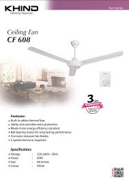 set of 2new khind cf608 ceiling fan with 5 sd electronic regulator