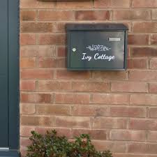 wall mounted letterbox lockable large capacity dublin black signs numbers