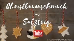 Christbaumschmuck Aus Salzteig Handmade Kultur