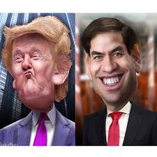 Image result for trump and rubio
