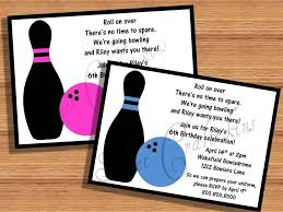 Free Printable Bowling Birthday Party Invitations Awesome