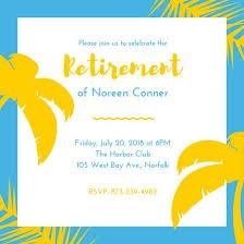 Retirement Celebration Invitation Template Bright Tropical Retirement Party Invitation Templates By Canva