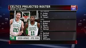 Celtics Depth Chart Hayward Irving And Bostons Depth Nba Com