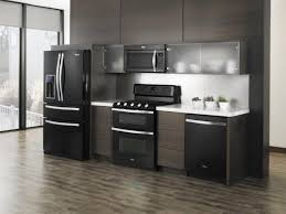 Dark Grey Kitchen Cabinet Color Ideas With Black Appliances And Sliding  Glass Door