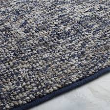 looped texture wool rug midnight west elm