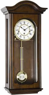 70815 q10341 walnut keywound wall clock