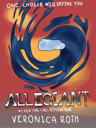 cartoon drawing of the allegiant book cover a k a the book that ripped my heart out of