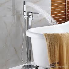 wall mounted waterfall tub faucets fresh new free standing waterfall bathtub faucet chrome mixer tap w