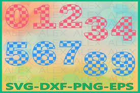 Use by itself or copy and mirror it. 6 Numbers Svg Designs Graphics