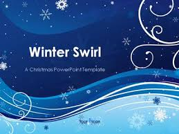 Winter Powerpoint Winter Swirl A Powerpoint Template From Presentermedia Com