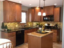 Pin By Leah Morgan On New House Oak Kitchen Kitchen Design Brown Kitchen Cabinets