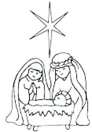 Baby Jesus Manger Scene Coloring Page In A Pages Printable Gallery