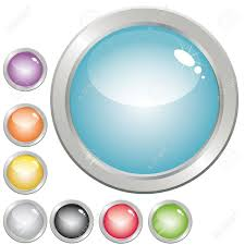 Collection Of Glossy Button In Various Color For Web Design Royalty