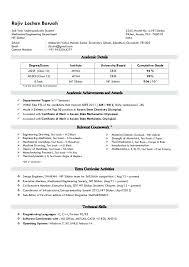 Resume For Internship No Experience Engineering Internship Resume Mechanical No Experience Mmventures Co