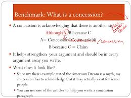 h concession and refutation goal to compose body paragraphs 3 benchmark
