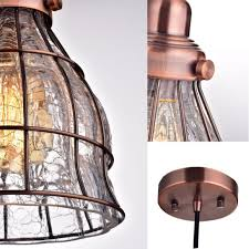 top 39 fabulous yobo lighting vintage ed glass wire cage hanging pendant light l pixball battery