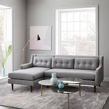 modern comfortable couch.  Modern Crosby MidCentury 2Piece Chaise Sectional And Modern Comfortable Couch