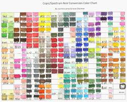 Copic Marker Spectrum Noir Color Conversion Chart Wish
