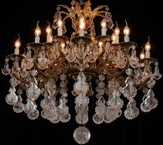 fine gilt bronze 19th century french rock crystal chandelier for