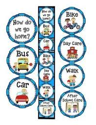 How Do We Go Home Transportation Clip Chart After School