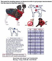 Pup Crew Size Chart Size Chart Fido Fleece Dog Coats Fleece Dog Coat Dog