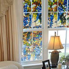 Decorations:Glass Window Film With Plants Decoration On Glass Window Glass Window  Film With Plants