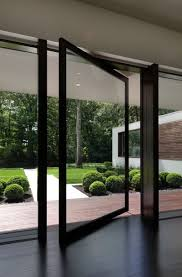 awesome minimalist american architecture residence in 2016 with large glass window and sliding glass door dark wooden floor