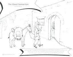 The Good Samaritan Coloring Page Bible Story Pages Also Color Free