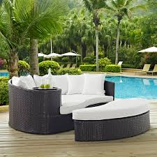 outdoor patio daybed. Latitude Run Ryele Outdoor Patio Daybed With Cushions \u0026 Reviews | Wayfair O