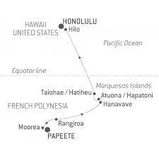 Cruise French Polynesia Hawaii From Papeete Tahiti Island