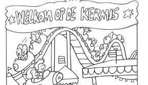Kleurplaat Kermis