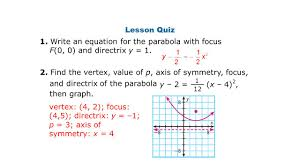 write an equation for the parabola with focus f 0