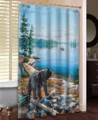 bear lake shower curtain