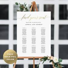 Etsy Wedding Seating Chart 7 Sizes Wedding Seating Chart Template Editable Wedding Table Seating Chart Poster Sign Pdf Instant Download Modern Find Your Seat Msc