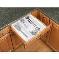 White Plastic 2125 In X 2187 In Multi Use Insert Kitchen Drawer Organizer Ebay