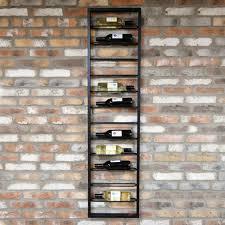 ladder wall mounted wine rack black
