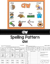 Diphthongs AU and AW Word Work Activities | Word work activities ...