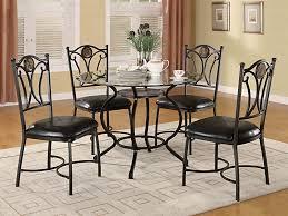 altamonte 5 piece dining set with glass top casual dinette sets regarding elegant property 5 piece round glass dining set prepare