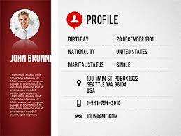 Professional Resume Template, Slide 2, 01833, Presentation Templates   PoweredTemplate.com