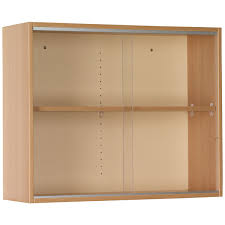 wall display cabinet with sliding glass doors