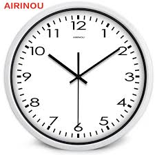 office wall clocks large. Airinou Corridor, Living White Simple Modern Office Wall Clock , High Transparent Glass Silent Movement Clock-in Clocks From Home \u0026 Garden On Large
