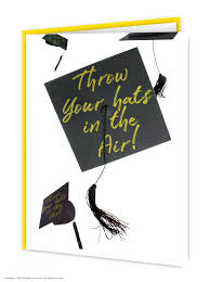 Congratulations For Graduation Throw Hats Congratulations Graduation Card