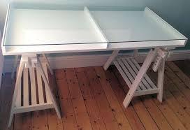 Ikea glass top desk/shop display Slaithwaite Huddersfield