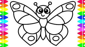 Learn How To Draw A Butterfly Easy Coloring Pages For Kids