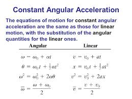 constant angular acceleration