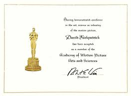 A Letter To The Academy Of Motion Pictures David Paul