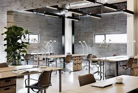 contemporary office spaces. Beautiful Modern Industrial Office Design Workspaces Contemporary Spaces F