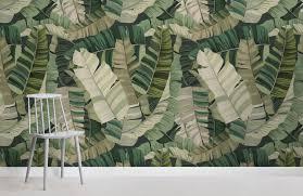 3d tropical camo leaf design room wall murals